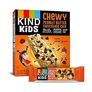 KIND Kids Granola Chewy Bar, Peanut Butter Chocolate Chip, 10 Count (6 Pack)
