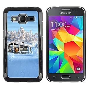 Be Good Phone Accessory // Dura Cáscara cubierta Protectora Caso Carcasa Funda de Protección para Samsung Galaxy Core Prime SM-G360 // Nature Beautiful Forrest Green 141