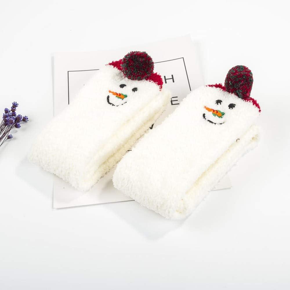 Winter Warm Striped Knee Thigh High Thick Stocking Soft Cute Cartoon Animal Sock