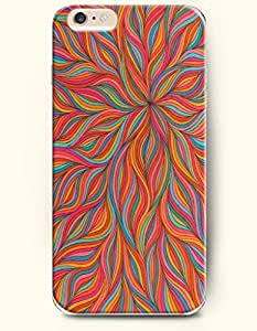 Colorful Floral Pattern - Rainbow Color Series - Phone Cover for Apple iPhone 6 Plus ( 5.5 inches ) - OOFIT Authentic iPhone Case