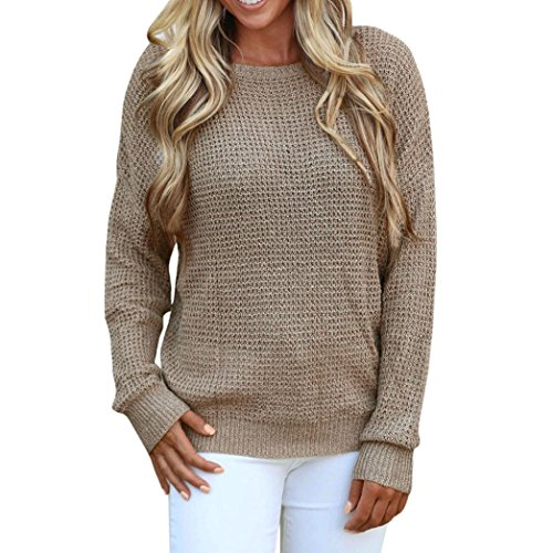 Women Tops, Gillberry Womens Long Sleeve Backless Knitting Sweaters Casual Blouse Tops (M, - Eyeglass Nyc Frames