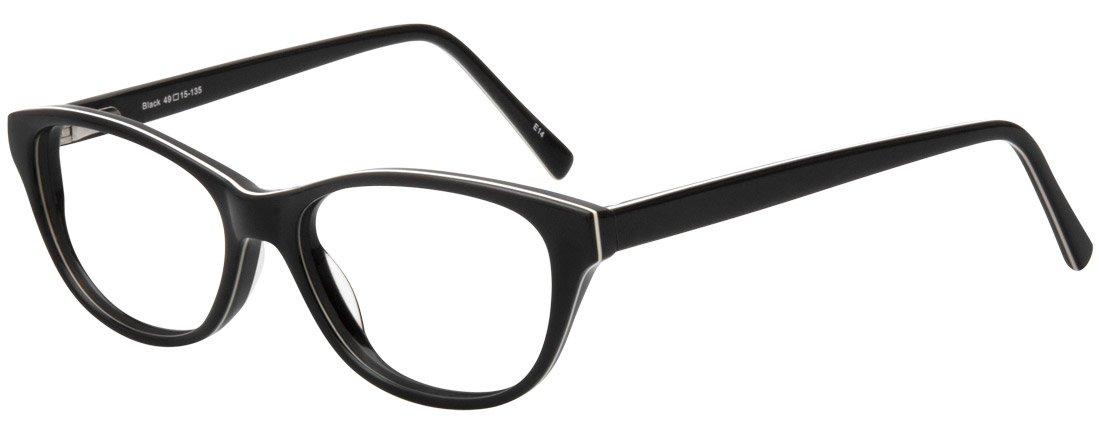 SightLine Taylor Multifocal Reading Glasses for Woman (150, Black)