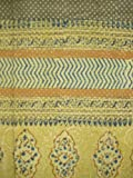 Mustard Yellow Curtains Kensington Block Print Curtain Drape Panel Cotton 46