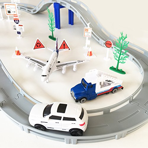 circuit de voiture electrique a roport playset voiture avion miniature ensemble classique jouet. Black Bedroom Furniture Sets. Home Design Ideas