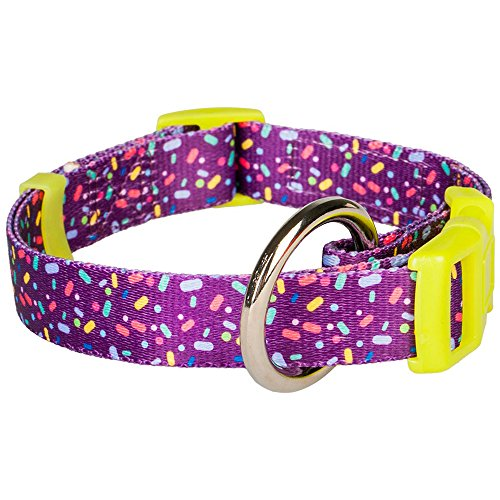 Blueberry Pet 5/8-Inch Candy Crush Inspired Dog Collar, Small, Orchid