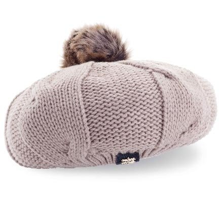 b9b1508e034aaf Mud Pie Cable Knit Beret (Oatmeal) at Amazon Women's Clothing store: