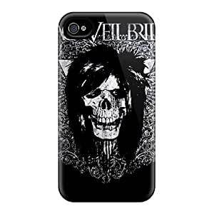 Fashionable Black Veil Brides Style Cases Covers Skin For Iphone 6