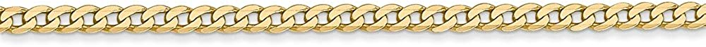 Q Gold 14k 2.2mm Beveled Curb Chain