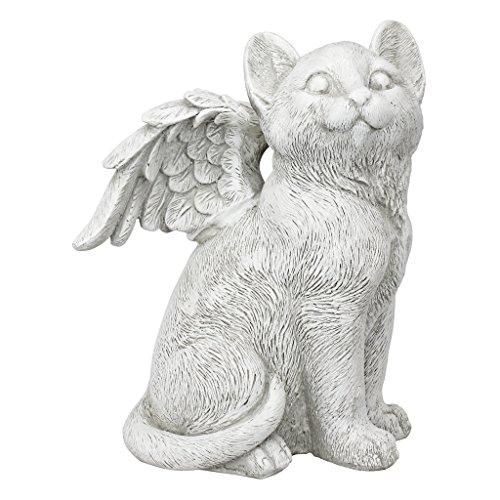 Design Toscano LY7154091 Loving Friend, Memorial Pet Cat Statue, Large, Antique Stone