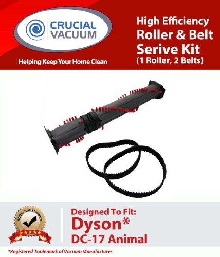 Dyson DC-17 Durable Replacement Roller and Belt Service Kit Designed To Fit Dyson DC17 Animal Upright Vacuums; Compare To Part # 911961-01, 911710-01; Designed and Engineered by Crucial Vacuum, Appliances for Home