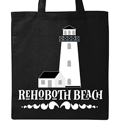 Inktastic - Rehoboth Beach Delaware Tote Bag Black - Beach Rehoboth Shopping
