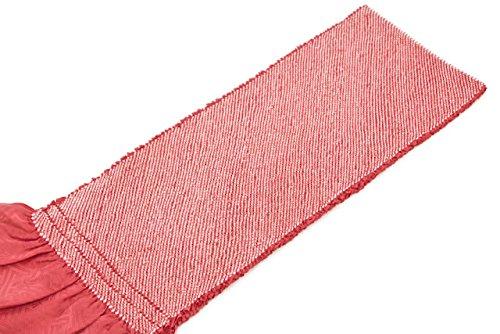 帯揚げ 珊瑚色 ピンク 正絹 四つ巻 無地 総絞り 鹿の子 帯あげ おびあげ 成人式向き 振袖向き ふりそで