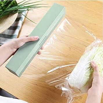 Uniqus Handy plástico papel de cocina y film dispensador dispensador dispensador dispensador de papel dispensador soporte dispensador dispensador caja de ...