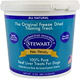 Stewart Freeze Dried Beef Liver Dog Treats, Grain Free All Natural, Made in USA using Human Grade USDA Certified Liver by Pro-Treat, 12 oz., Resealable Tub