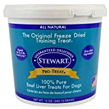 Stewart Freeze Dried Beef Liver Dog Treats, Grain Free All Natural, Made in USA using Human Grade USDA Certified Liver by Pro-Treat, 12 oz., Resealable Tub Review