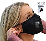 Easy Breathe Pollution Mask Ultra Soft Cotton Adjustable & Reusable With Four N99 Mask Replacement Filters | Anti Pollution N99 Filter Respirator Mouth & Face Mask For Men & Women