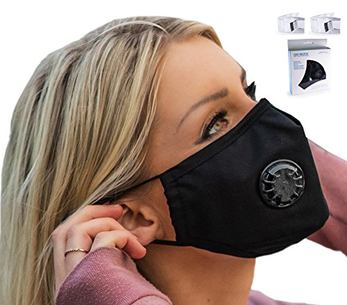 Easy Breathe Pollution Mask Ultra Soft Cotton Adjustable & Reusable With Four N99 Mask Replacement Filters | Anti Pollution N99 Filter Respirator Mouth & Face Mask For Men & Women by Keklle (Image #7)