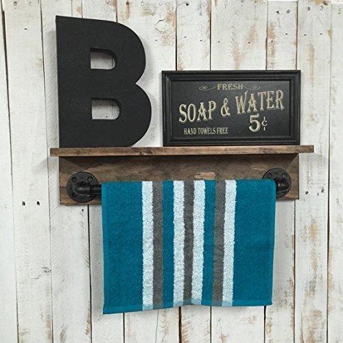 Bathroom shelf, rustic towel rack, rustic bathroom décor, rustic home décor, industrial shelf, rustic shelf, rustic home décor, pipe shelf