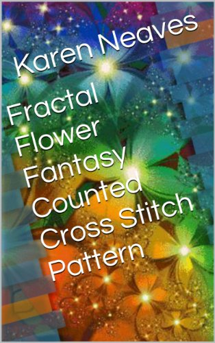 Fractal Flower Fantasy Counted Cross Stitch Pattern Dmc Flower