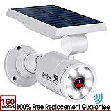 Solar Lights Outdoor Motion Sensor, 1400-Lumen Bright LED Spotlight 9-Watt(130W Equiv.), Solar Security Lights for Garden Driveway Patio, 2-Year Battery Life, 160-Week 100% Free Replacement Guarantee