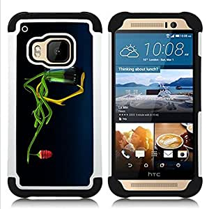 GIFT CHOICE / Defensor Cubierta de protección completa Flexible TPU Silicona + Duro PC Estuche protector Cáscara Funda Caso / Combo Case for HTC ONE M9 // Abstract Honey Flower //