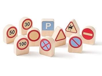 Kids Concept- Conjunto de 10 señales de tráfico educativos ...