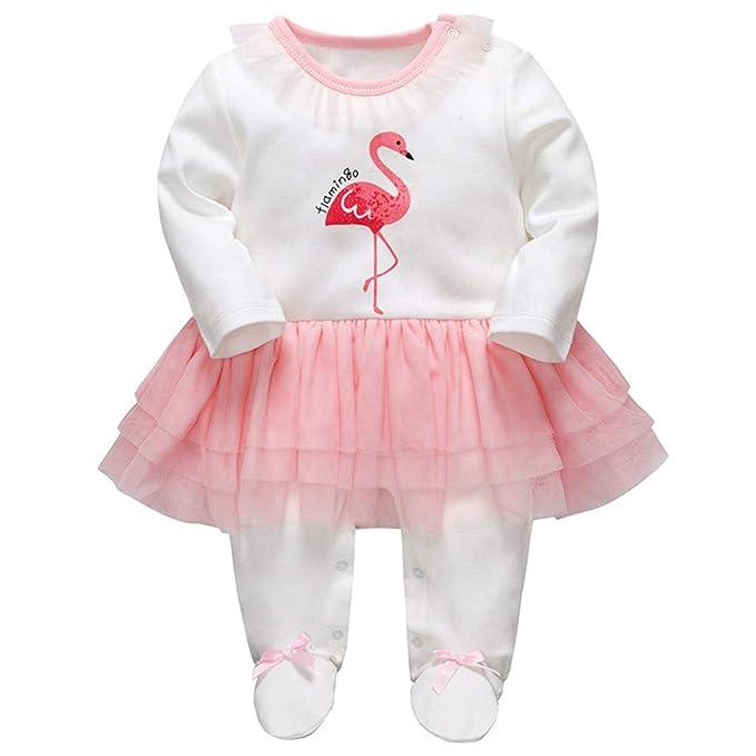 412e8e4ca Bebé Niñas Peleles Algodón Mameluco Tutú Pijama Recién Nacido Footies Tuta  Sleepsuit Outfits: Amazon.es: Ropa y accesorios