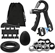 Moko Grip Strength Trainer Hand Grip Strengthener Kit 6 Pack, 22-132 Lbs Counting & Adjustable Resistance