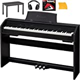 Casio PX750 Digital Piano Bundle With Casio CB7BK Furniture Style Bench, Headphones, Hal Leonard Instructional Book, and Polishing Cloth