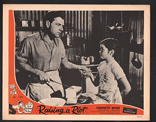 Raising a Uproar Lobby Card-Kenneth More with Shelagh Fraser.