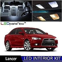 LEDpartsNOW Mitsubishi Lancer 2007-2015 Xenon White Premium LED Interior Lights Package Kit (6 Pieces) + TOOL