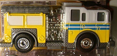 Tonka Metal Diecast Bodies - Fire Defense First Responders (Yellow) Fire Truck 1:55 Scale by Tonka -