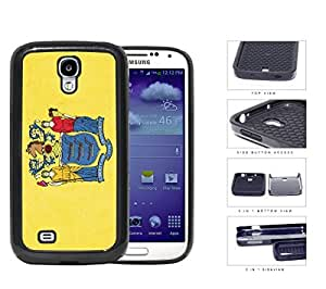 New Jersey State Flag 2-Piece Dual Layer High Impact Rubber Silicone Cell Phone Case Samsung Galaxy S4 SIV I9500