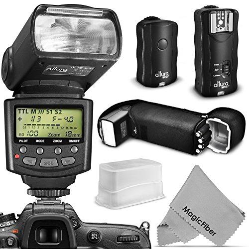 Altura Photo Professional Flash Kit for NIKON DSLR - Includes: I-TTL Flash (AP-N1001), Wireless Flash Trigger