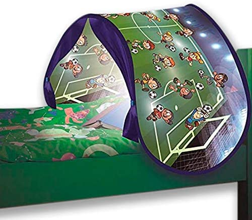 BEST DIRECT Starlyf SleepFun Tent As seen on TV Pop up Bed Tent Playhouse Dream Bed Tent for Children With lights Bed Tent Magical World for Girls /& Boys Football Match