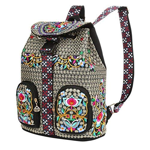 à au Black pour TickTocking Sac Floral porté Pineapple Dos Femme K1 Main HYUzqz5