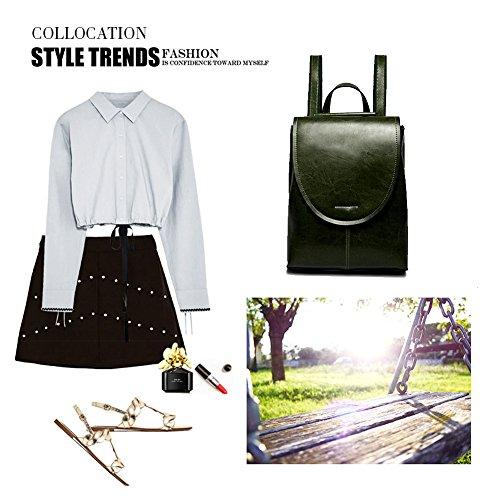 en Noir à School pour dos Pure Yoome Sac souple bandoulière à Vintage cuir filles Sac pour femmes Crossbody RTtqxw