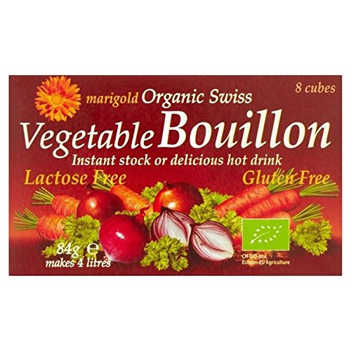 Marigold Organic Bouillon Cube Regular 84g - Pack of 6