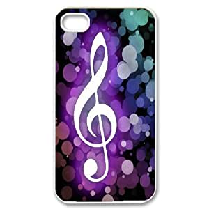 Bible N Skull Music Life IPhone 4S Cases Abstract Music for Girls, Iphone 4 Case, {White}