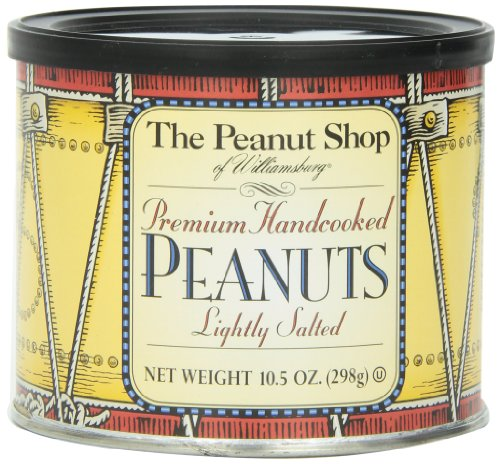 The Peanut Shop of Williamsburg Handcooked Virginia Peanuts, 10.5-Ounce Colonial Style Drum ()