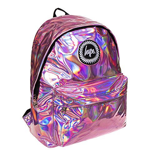 y Rosa para De Holografico Mochila Hype niñas niños Escuela Bolsas mochila Bolso Ideal RXwv867xqv
