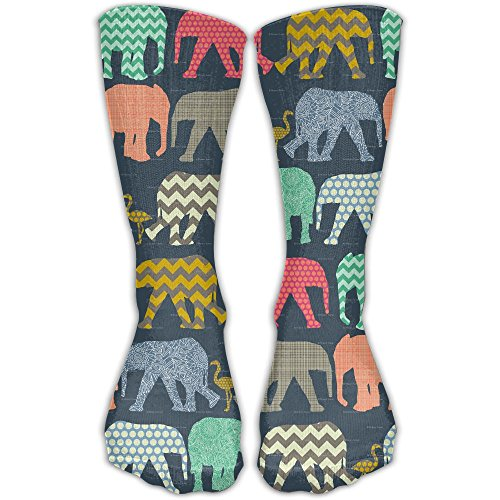 Crew Socks Elephant Flamingo Art Sock Protect The Wrist For Cycling Moisture Control Elastic Socks (Chicago Medical Journal)
