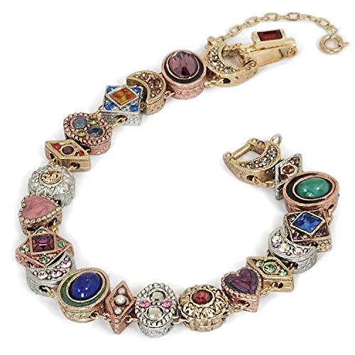 Sweet Romance Women's Victorian Slide Bracelet -Gold, Silver, Bronze Plated ()