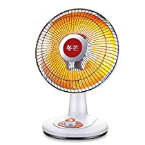 GUO@ 600W Small Sun Heater Home Office Automatically Shakes the Head 120 Degrees Wide Angle Heating Fast Heating Grilling Stove Warm Fan 453223cm Space Heaters (color : Carbon fiber)