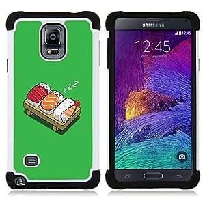 - Funny LOL SUSHI Bed/ H??brido 3in1 Deluxe Impreso duro Soft Alto Impacto caja de la armadura Defender - SHIMIN CAO - For Samsung Galaxy Note 4 SM-N910 N910