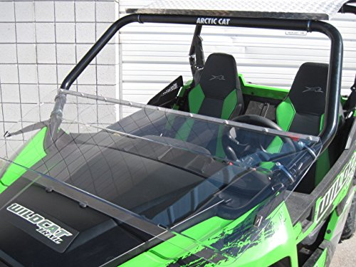 Arctic Cat Wildcat (Trail/Sport Only) 12'' Tall Half WindshieldTallest on the market (we make shorter upon request let us know at time of order). Made in America by UTV Windshields and Accessories (Image #5)