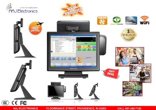 UPC 633131452181, Mercury All In One Touch Screen System fanless 2GB 64GB Restaurant/ Retail POS (NEW)