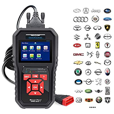 SEEKONE OBD2 Scanner Professional Car OBD II Scanner Auto Diagnostic Fault Code Reader Automotive Check Engine Light Diagnostic EOBD Scan Tool for All OBDII Protocol Cars Since 1996(Enhanced SK860) by Launch Online Shop(LA69B) -- Dropship