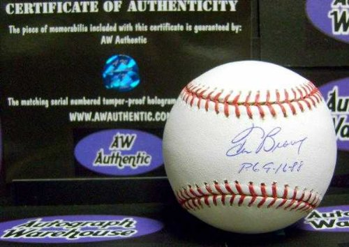 88 Red Star - Tom Browning autographed baseball inscribed PG 9 16 88 (OMLB Perfect Game Cincinnati Reds) Tri Star AW Certificate of Authenticity Hologram