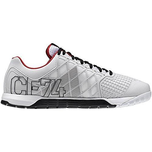Reebok Men s Crossfit Nano 4.0 Athletic Shoes Porcelain Black White Red  Size 12 (B00LJET2EG)  8adc77683